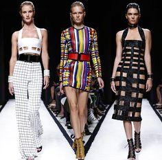 Balmain Spring/Summer 2015 Collection - Paris Fashion Week  #PFW #ParisFashionWeek #fashionweek