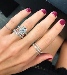 Beautiful 5 carat cushion cut engagement ring.
