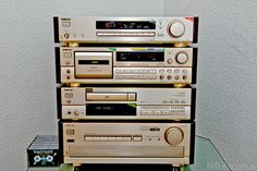 1990's Sony ES system in champagne. European color was champagne, US models were black.
