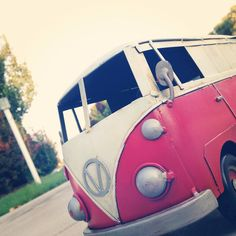 An adorable mini VW bus, I was out taking perspective shots <3