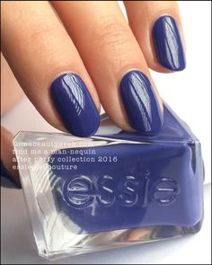 "Essie ""Find Me a Man-nequin"" gel polish. Wow! Deep marine-blue violet. Love!"