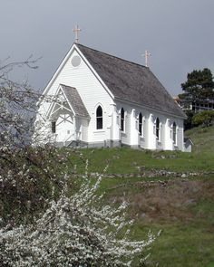 Old St. Hilary's in the spring.   (photo by Diane Smith)