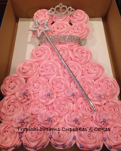Princess Dress Cupcakes Princess pull apart cupcake