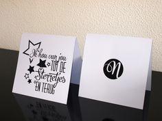 Ik hou van jou tot de sterretjes en terug. - Typografie Kaarten - Naomi Typografie - www.naomitypografie.nl