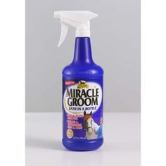 Absorbine Miracle Groom A bath in a bottle - Miracle Groom is a patented 5-in-1 formula that cleans conditions deodorizes detangles and shines in