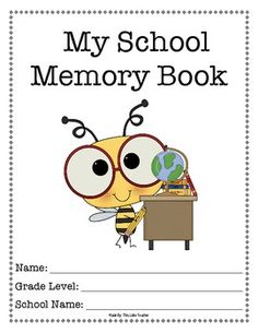 School Memory Book for End of the Year