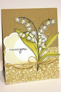 Lily Of The Valley Thank You Card by Heather Nichols for Papertrey Ink (February 2013)