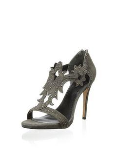 80% OFF Pour La Victoire Women's Vassy Dress Sandal (Charcoal)