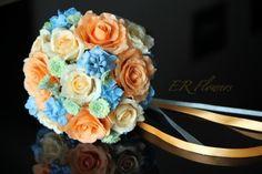 """Bouquet """"Sinfonía"""" modelado en porcelana fría"""