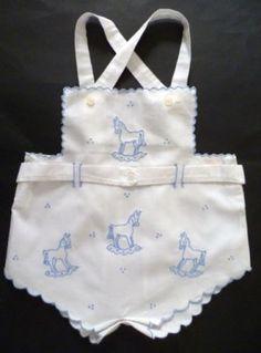 BEST-Vintage-ROMPER-Infant-ROCKING-HORSES-Child