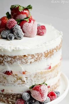 Extra sweet berries add the right touch to this simple cake. Get the recipe at Ashlee Marie.