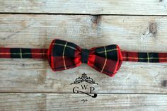 #bowtie Tartan Red with Black Leather Detail    ---> For info and enquiries contact our crew at: info@gwpstyle.com