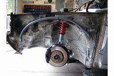 VW Volkswagen MK1 A1 Rabbit Caddy Jetta engine bay hiding wiring idea