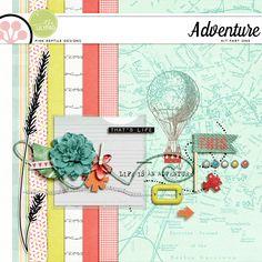 Quality DigiScrap Freebies: Adventure mini kit freebie from Pink Reptile Designs