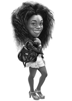 African mix (caricature)