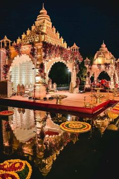 Your mandap stands out the most in your wedding pictures so you have to make sure that the decor is unique and eye-catching! Take a look at these 7 mandap decors for some inspiration! Desi Wedding Decor, Wedding Stage Design, Wedding Hall Decorations, Luxury Wedding Decor, Wedding Mandap, Backdrop Decorations, Wedding Ideas, Wedding Mehndi, Wedding Receptions