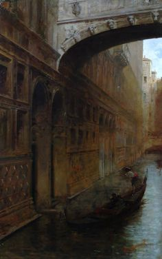 Leonardo Bazzaro (1853-1937), Ponte dei Sospiri.