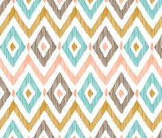 Diamond IKAT fabric by pattysloniger on Spoonflower - custom fabric