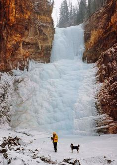 Amazing #Gutarsky waterfall in March, Tofalaria, #Siberia, Russia.