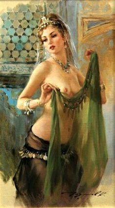 The Elegant nude dancers fantasy art