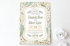 """""""Herb Garden"""" - Rustic, Floral & Botanical Print-it-yourself Wedding Invitations in Earth by Alethea and Ruth."""