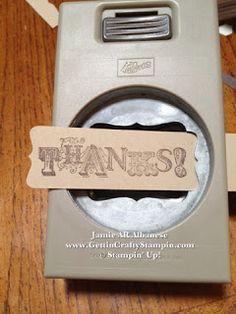 SU Decorative Label punch idea   Jan 28, 2013