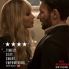 """See the film critics are calling """"Empowering."""" Red Sparrow is in theaters this Friday. Red Sparrow Book, Red Sparrow Movie, Jennifer Lawrence Red Sparrow, Jennifer Lawrence Quotes, Jason Matthews, Ebook Cover Design, Fox Movies, Thing 1, Book Cover Art"""