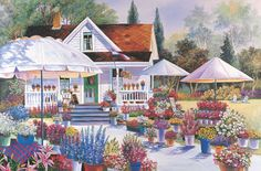 Flower House - 1500pc Jigsaw Puzzle by TOMAX