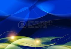 ripple effect: digital abstract blue background