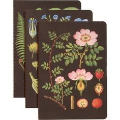 These lovely journals have a vintage feel with soft botanical illustrations on the cover. Handy to keep in the kitchen or in your purse for list making.<br /><br />Size - 6 x 8 1/2<br /><br />Page S