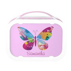 Colorful Butterfly Design Lunchbox