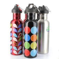 6 NEW Smart Planet Canteen BPA(Bisphenol A)-Free Stainless Steel Water Bottles -Eco GREEN! This is a great bottle you can take anywhere with you to refill and stay hydrated while you're working out or where ever you go:) Can stay cooler for longer and made with recyclable steel! Brought to you from Ebay. #greendorm