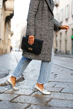 A Blogger-Approved Way To Style Silver Loafers