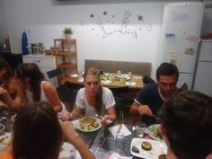 Dinner with Gràcia City Hostel #dinner #barcelona #activity #food #city #street #hostel #graciacityhostel #fun #yummy #friends