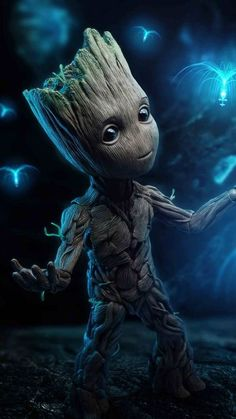 Download baby groot 4k Wallpaper by tornhawk - a5 - Free on ZEDGE� now. Browse millions of popular black Wallpapers and Ringtones on Zedge and personalize your phone to suit you. Browse our content now and free your phone Groot Avengers, Marvel Avengers Movies, Marvel Heroes, Marvel Comics, Baby Groot, Photo Bleu, Marvel Wall Art, Marvel Coloring, Marvel Photo