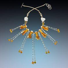 Starbust! Hand blown glass necklace! A stunner!