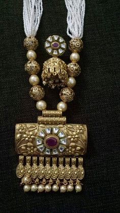 Antique Jewellery Designs, Gold Jewellery Design, Royal Jewelry, India Jewelry, Indian Wedding Jewelry, Bridesmaid Jewelry Sets, Jewelry Patterns, Necklace Designs, Jewelry Collection