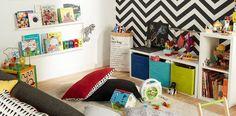 Un coin lecture pour enfant, installé par exemple dans le salon.  © Castorama