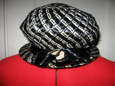 Vintage 1930s Dana Marte Hat Black and White by vivalasvixens, $29.00