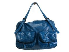 Bottega Veneta Hand bag Enamel Blue 248521(BF066558). Authenticity guaranteed, free shipping worldwide & 14 days return policy. Shop more preloved brand items at #eLADY: http://global.elady.com