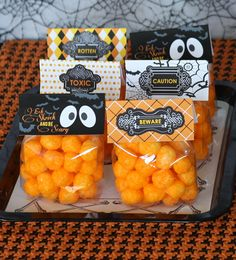 ~ Halloween snack for school ~ better than sugary candy ~ free printable included ~