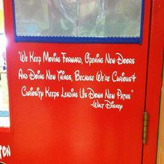 Classroom Door With Walt Disney Quote Idea