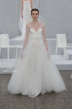 Lace Sleeves are rounding out our hottest trends from the Spring 2015 Bridal Market  Read More: http://www.stylemepretty.com/2014/04/18/the-hottest-trends-from-the-spring-2015-bridal-market/