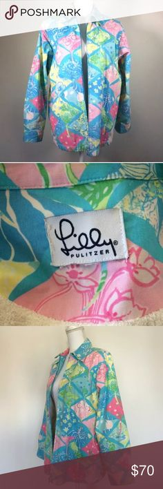 Lilly Pulitzer Mantaray jacket Chest: 40, length: 26;  size tag is missing so XL is a guess Lilly Pulitzer Jackets & Coats