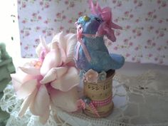 This is my very first giveaway and I am sooo excited to be a participant in the Cottage Charm Giveaway ! This affords you an opportunity to. Paper Mache Clay, Arts And Crafts, Paper Crafts, Paperclay, Blue Bird, Giveaway, Cottage, Charmed, Creative