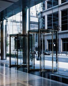 Crane 4000 Series All-Glass Revolving Door.: