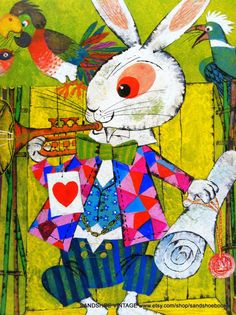 1971 ALICE in WONDERLAND the White RABBIT by Moritz Kennel Print Ideal for Framing on Etsy, $4.59 AUD