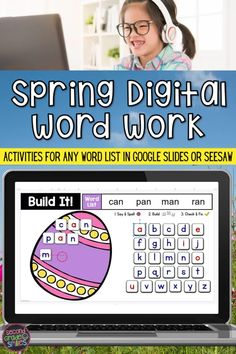 Looking for digital Easter activities? This digital word work center set includes interactive word work activities for any word list with moveable letter tiles right in Google Slides or Seesaw. Use them again and again with any set of spelling words or high-frequency words. Just click to type in your own list! These fun activities are ideal for both distance learning and everyday classroom use in first grade, second grade, third grade, or kindergarten. Word Work Games, Word Work Centers, Word Work Activities, Easter Activities, 2nd Grade Classroom, Primary Classroom, Teaching Second Grade, Third Grade, Creative Teaching