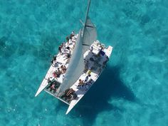 The best day trip to Isla Mujeres on a catamaran! (We did this in 1988)