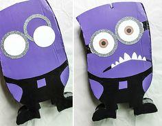 How to make a purple evil minion pinata